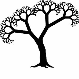 Negro del árbol del fractal esculturas fotográficas