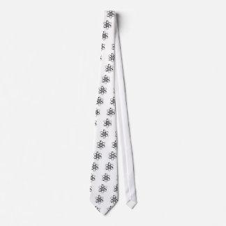negro del átomo corbata