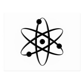 negro del átomo tarjetas postales