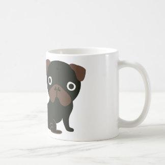 Negro del barro amasado el mirar fijamente tazas de café
