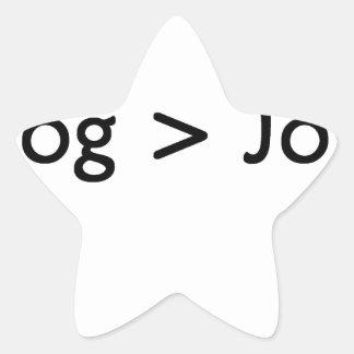 negro del blog pegatina forma de estrella