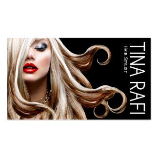Negro del blonde el | del estilista de los Tresses Tarjetas De Visita