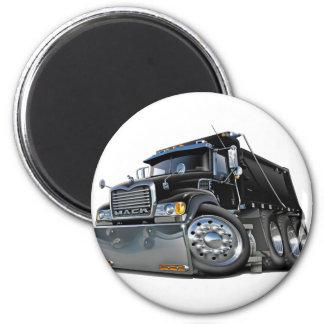 Negro del camión volquete de Mack Imán