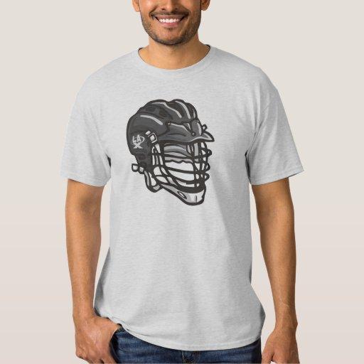Negro del casco de LaCrosse Playeras