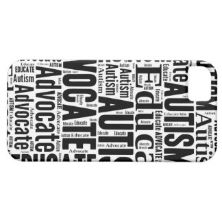 Negro del caso de IPhone de la conciencia del auti iPhone 5 Carcasa