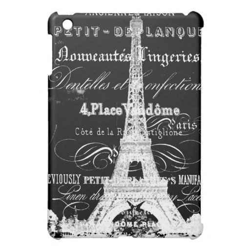 Negro del caso del iPad de la torre Eiffel