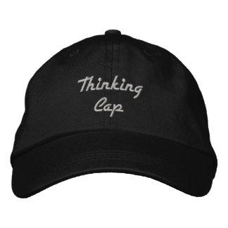 Negro del casquillo de pensamiento con el bordado  gorra de béisbol bordada