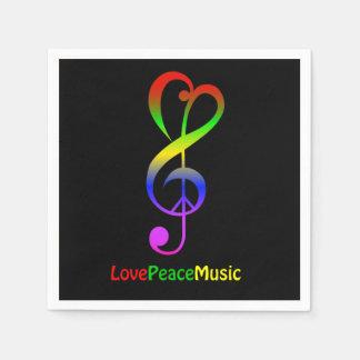 Negro del clef agudo del hippie de la música de la servilleta desechable