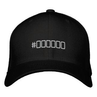 Negro del código de color gorro bordado