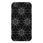 Negro del cordón del Victorian iPhone 4 Carcasas
