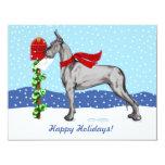 Negro del correo del navidad de great dane comunicado personalizado