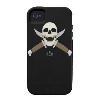 Negro del cráneo iPhone 4 carcasas