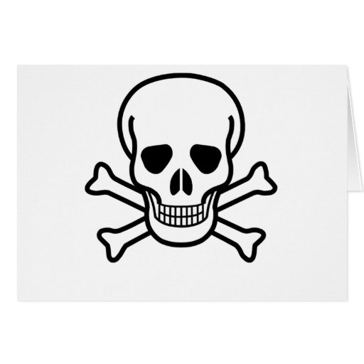 Negro del cráneo tarjeta de felicitación