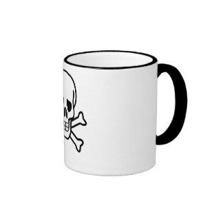 Negro del cráneo tazas de café