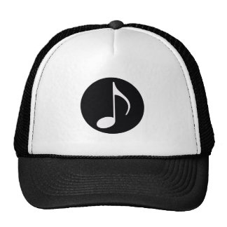 negro del ~ de la nota musical gorras