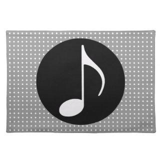 negro del ~ de la nota musical mantel