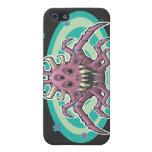 Negro del demonio de la araña iPhone 5 protectores