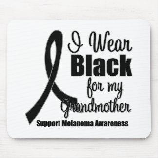 Negro del desgaste del melanoma I para mi abuela Alfombrillas De Raton