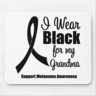 Negro del desgaste del melanoma I para mi abuela Tapetes De Ratón