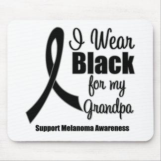 Negro del desgaste del melanoma I para mi abuelo Alfombrilla De Ratón