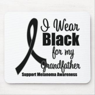 Negro del desgaste del melanoma I para mi abuelo Tapetes De Ratones