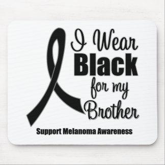 Negro del desgaste del melanoma I para mi Brother Alfombrillas De Ratones