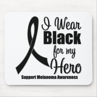 Negro del desgaste del melanoma I para mi héroe Tapete De Ratones