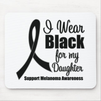 Negro del desgaste del melanoma I para mi hija Tapetes De Ratones