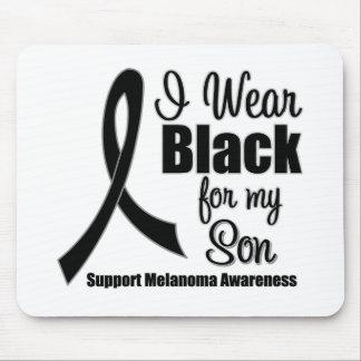 Negro del desgaste del melanoma I para mi hijo Tapetes De Raton