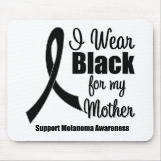 Negro del desgaste del melanoma I para mi madre Tapetes De Raton