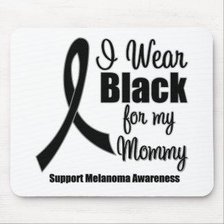 Negro del desgaste del melanoma I para mi mamá Tapete De Raton