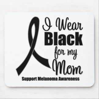 Negro del desgaste del melanoma I para mi mamá Tapetes De Raton