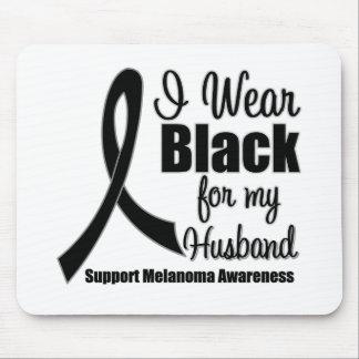 Negro del desgaste del melanoma I para mi marido Alfombrilla De Ratones