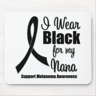 Negro del desgaste del melanoma I para mi Nana Tapete De Raton