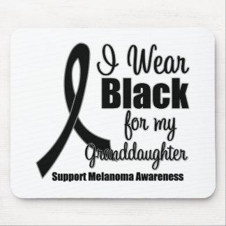 Negro del desgaste del melanoma I para mi nieta Tapetes De Ratón