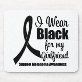 Negro del desgaste del melanoma I para mi novia Alfombrillas De Ratones