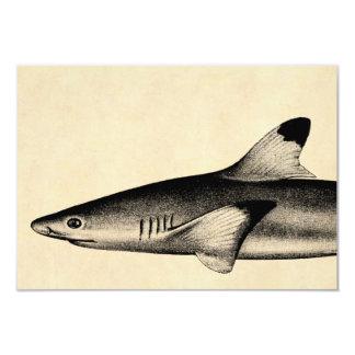 """Negro del ejemplo del tiburón del filón del invitación 3.5"""" x 5"""""""