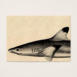 Negro del ejemplo del tiburón del filón del tarjetas de visita grandes
