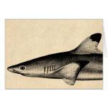Negro del ejemplo del tiburón del filón del vintag felicitación