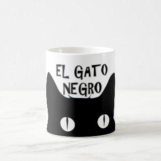 Negro del EL Gato - el gato negro Taza Clásica