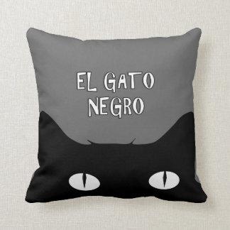 Negro del EL Gato - el REVERSIBLE del gato negro Almohadas