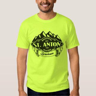 Negro del emblema de la montaña del St. Antón Remera