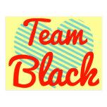 Negro del equipo postal