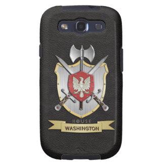 Negro del escudo de la batalla de Eagle Sigil Galaxy S3 Coberturas