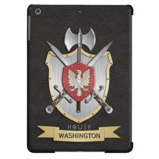 Negro del escudo de la batalla de Eagle Sigil Funda Para iPad Air