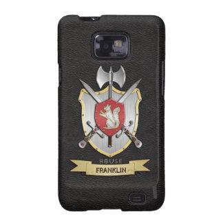 Negro del escudo de la batalla de Sigil de la ardi Samsung Galaxy S2 Fundas