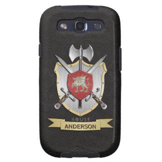 Negro del escudo de la batalla de Sigil del dragón Samsung Galaxy S3 Cárcasas