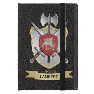 Negro del escudo de la batalla de Sigil del dragón iPad Mini Funda