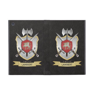 Negro del escudo de la batalla de Sigil del dragón iPad Mini Fundas