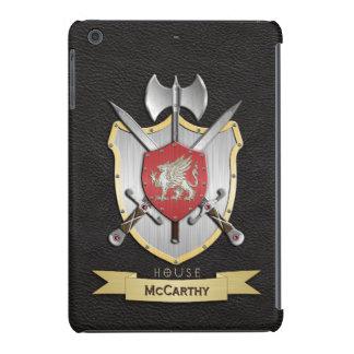 Negro del escudo de la batalla de Sigil del grifo Funda De iPad Mini